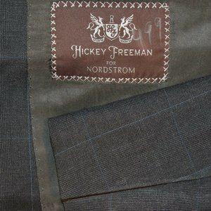 NWT $670 42L Hickey Freeman Dark Gray Blue BLAZER
